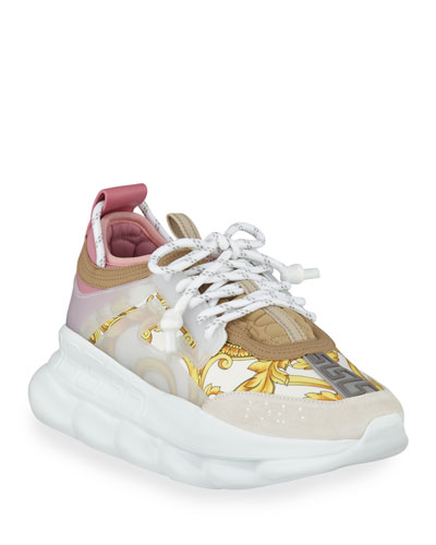 Chain Reaction Barocco-Print Chunky-Heel Sneakers
