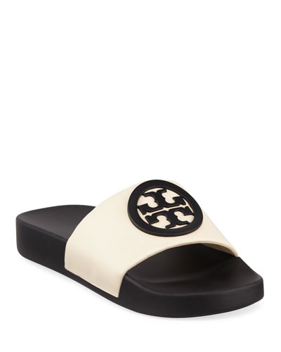 91da963a73c6 Quick Look. Tory Burch · Lina Logo Leather Pool Slide Sandals