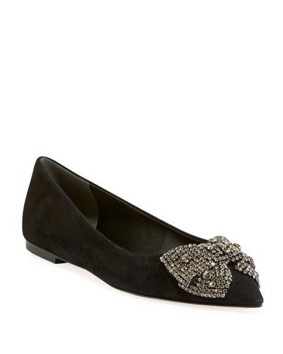 Esme Crystal Bow Ballet Flats
