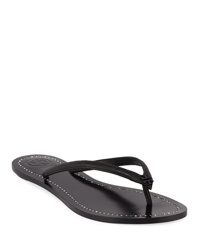 Liana Flat Leather Thong Sandals