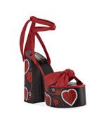 Saint Laurent Paige Platform Leather Sandals