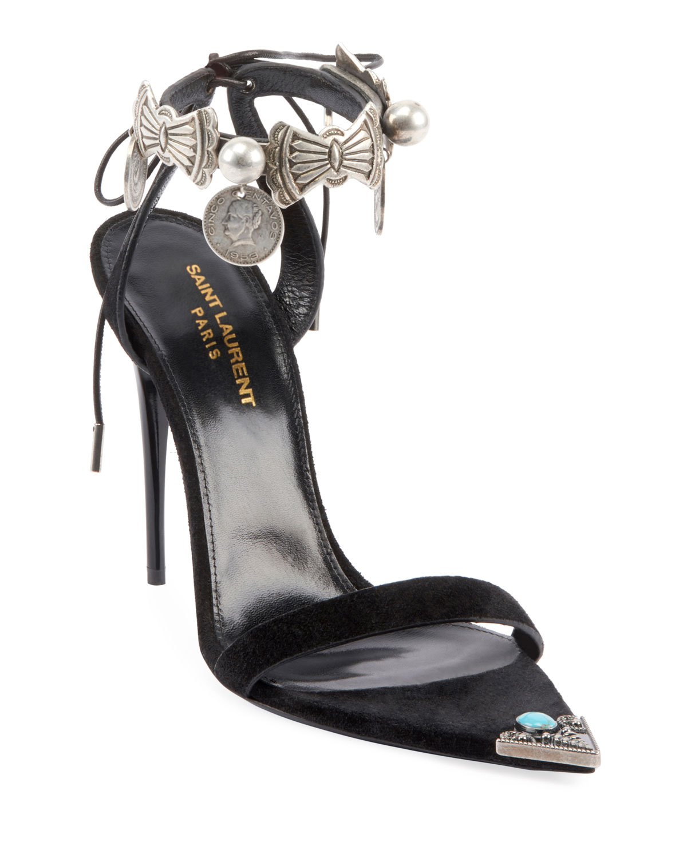 Dallas Embellished Tie Sandals