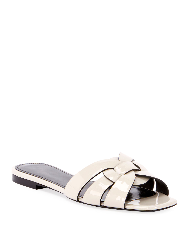 Nu Pieds Shiny Flat Sandals