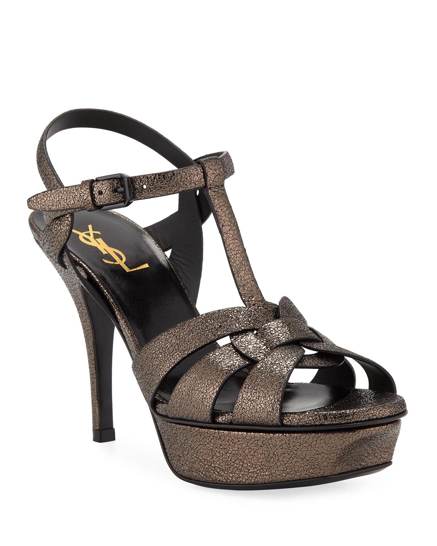 Tribute Speckled Metallic Platform Sandals