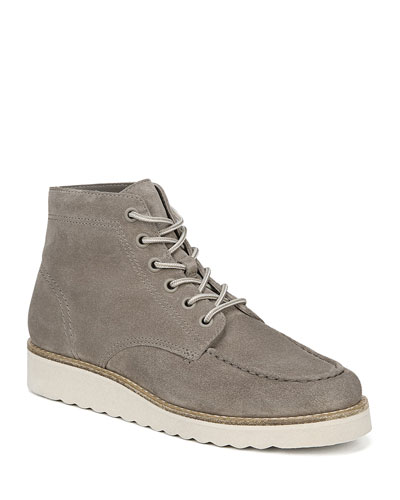Finley Suede Platform Lace-up Booties