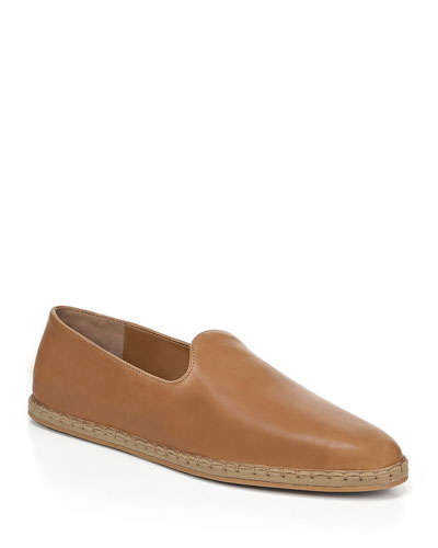 Malia Flat Foulard Leather Espadrille Loafers