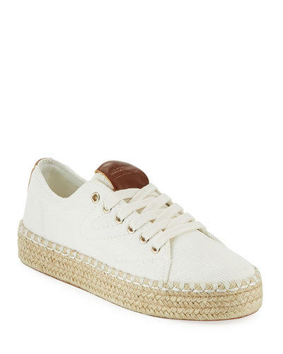 Eve Canvas Espadrille Platform Sneakers