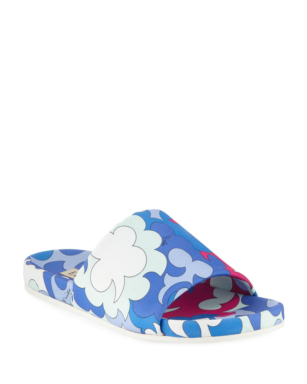 Jacquard Pool Slide Sandals