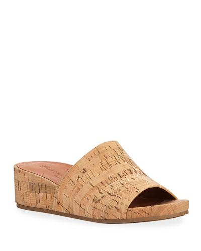 29355adf8b0 Cork Wedge Padded Footbed Sandals