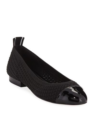 Vicky Knit Cap-Toe Ballet Flats