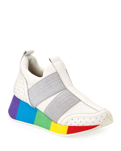 Prix Mesh Pull-On Sneakers with Rainbow Sole