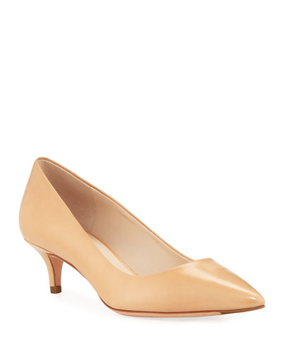 Vesta Grand Italian Leather Pumps, Mocha