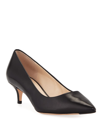 Vesta Grand Italian Leather Pumps, Black