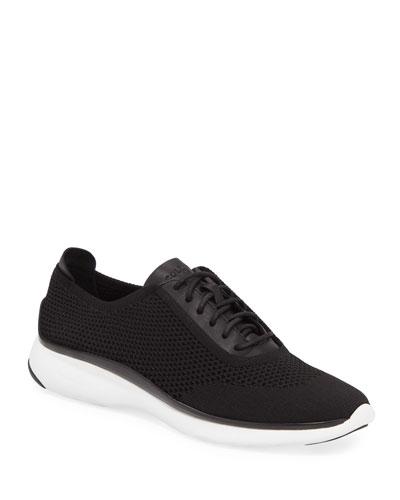 ZEROGRAND Knit & Leather Oxford Sneaker