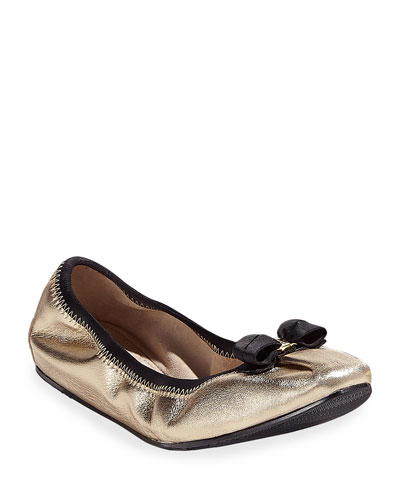 My Joy Silky Leather Ballet Flats