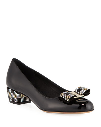 Vara Mosaic Low-Heel Pumps