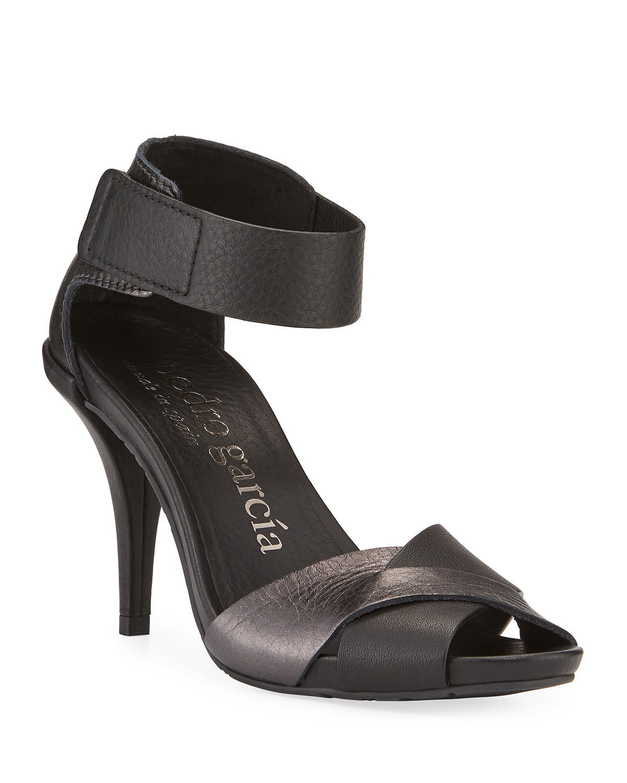 Yitta 95mm Metallic Leather Sandals