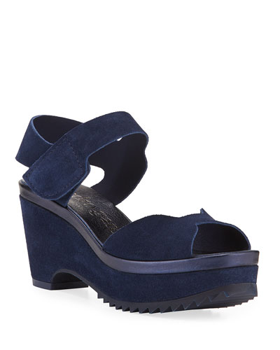197d230844de Quick Look. Pedro Garcia · Fah Suede Wedge Sandals