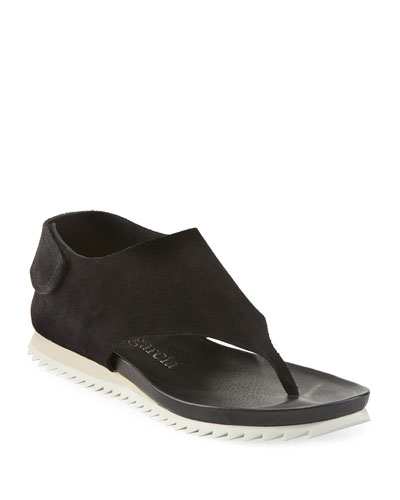 Jone Suede Sport Thong Sandals