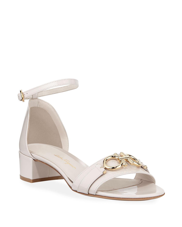 Como Gancini Patent City Sandals, Jasmine