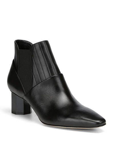 Fate Leather Gored Chelsea Booties