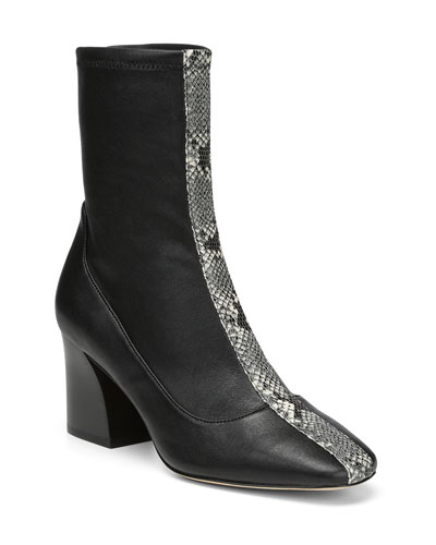 Gian Stretch-Leather Booties