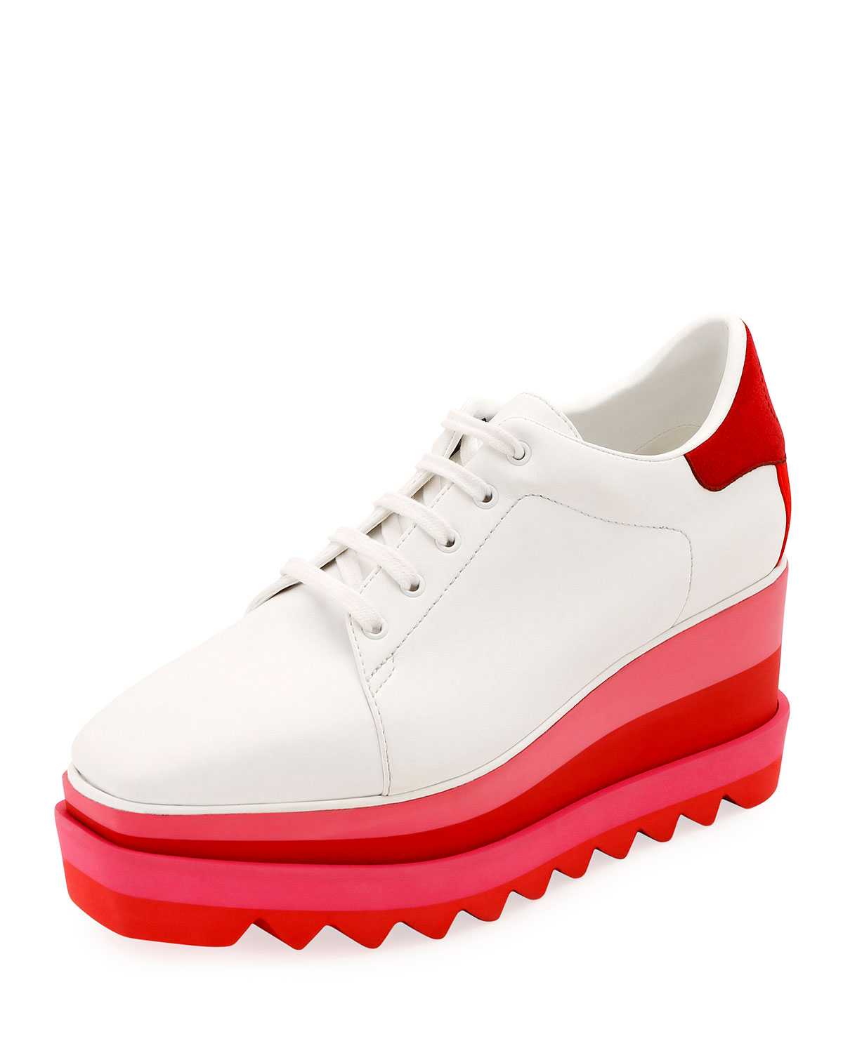 Sneakelyse Lace-Up Bright Sneakers in White