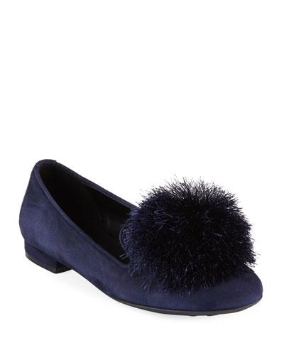 Kasen Pompom Loafers