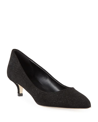 Beals Cushioned Kitten-Heel Pumps