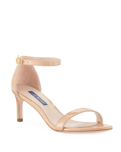 Nunaked Straight Patent Leather Sandals