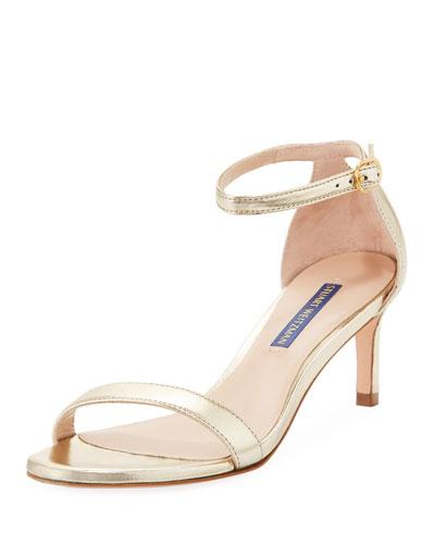 Nunaked Straight Metallic Leather Sandals
