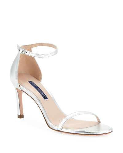 Nudist 80 Metallic Leather Naked Sandals