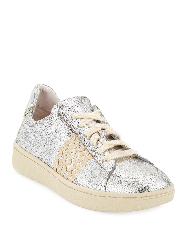 Elliot Ricrac Crackled Sneakers