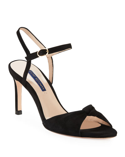 Gloria Knotted Suede Sandals