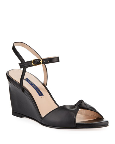 Gloria Leather Wedge Sandals