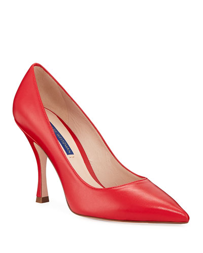 Tippi 95mm Point-Toe Leather Pumps