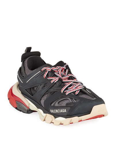 Track Colorblock Mixed Sneakers, Gris Noir
