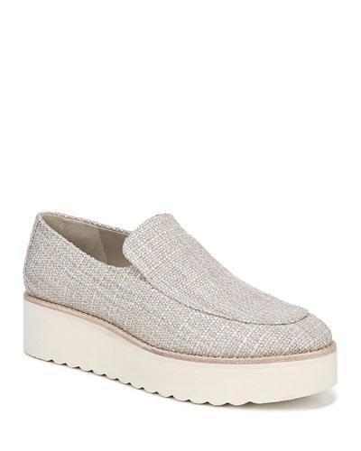 Zeta Linen Platform Loafers