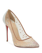 Christian Louboutin Follies Strass 100mm Mesh Red Sole
