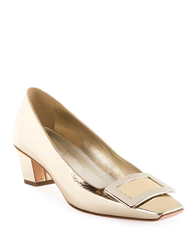 617270273 Quick Look. Roger Vivier · Belle Vivier Metallic Pumps