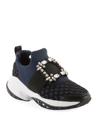 Running Strass Buckle Stretch Sneakers