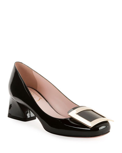 Tres Vivier Patent Buckle Pumps