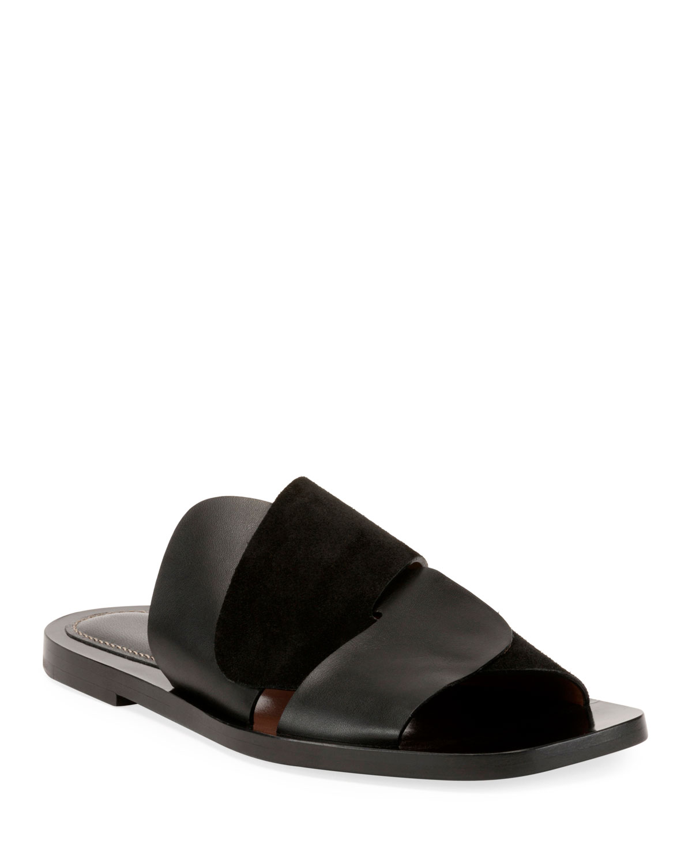 Woven Flat Slide Sandals