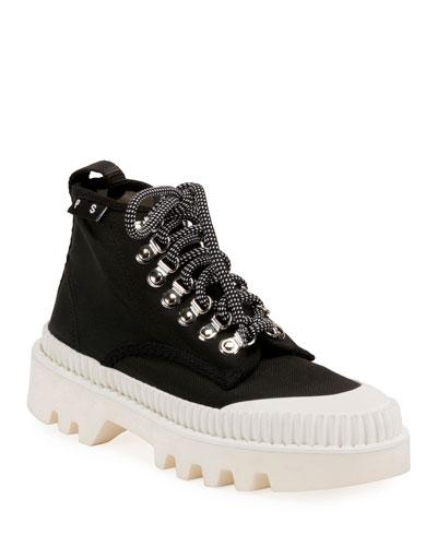Nylon High-Top Platform Sneakers