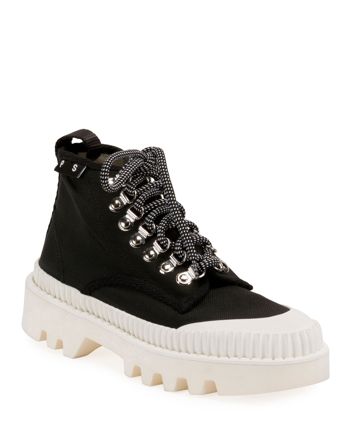 Nylon High-Top Platform Sneakers