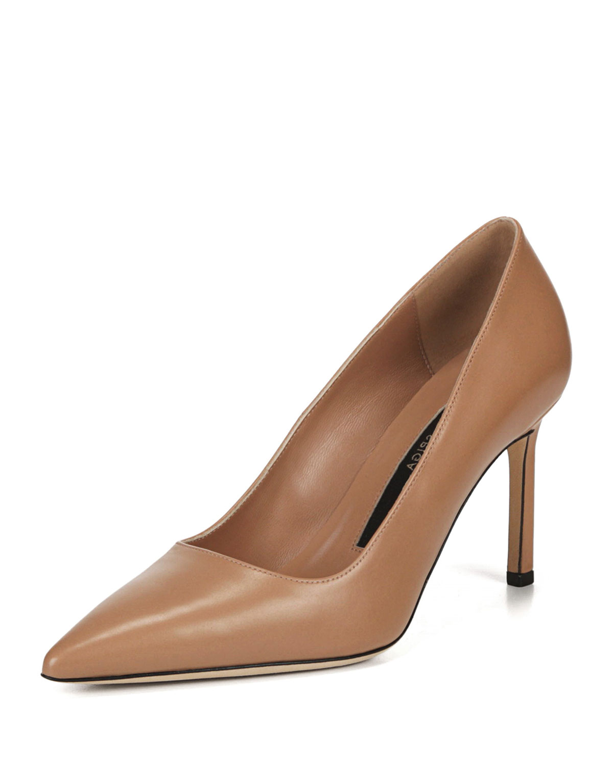 Nikole Leather Point-Toe Pumps
