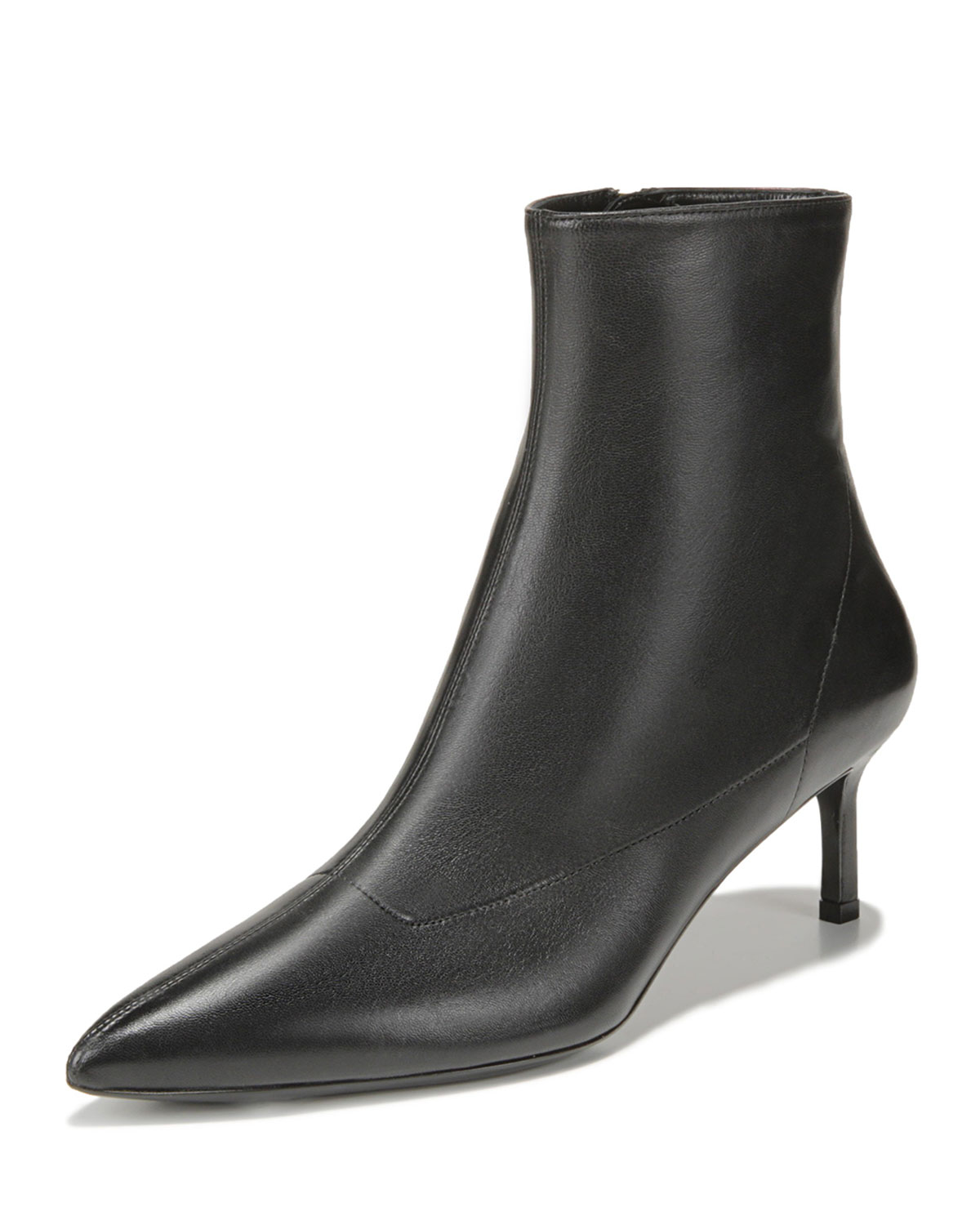 VIA SPIGA BARONNE LEATHER ZIP BOOTIES