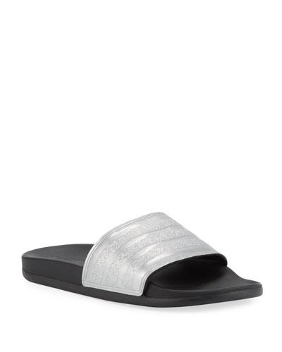 Adilette Glittered Comfort Slide Sandals