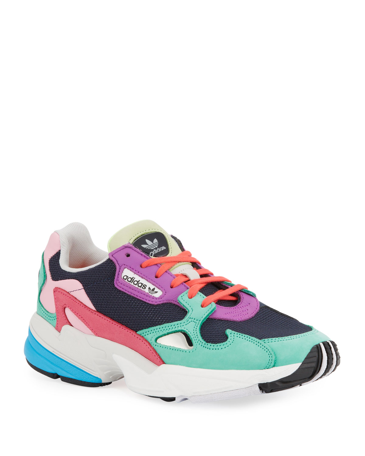 Falcon Colorblock Leather Running Sneakers