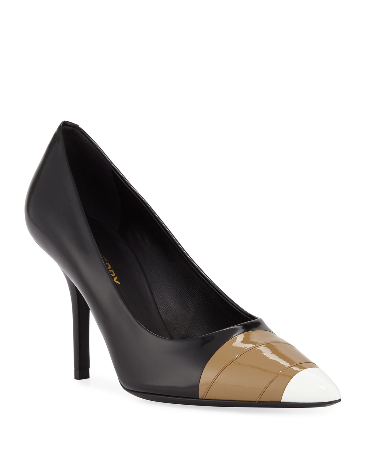 Annalise Mixed-Media Runway Pumps, Black